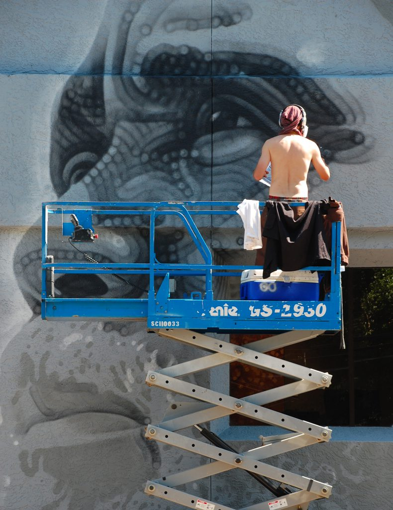 El Mac MAC mural by Rhonda Van Pelt | Manitou Springs, CO
