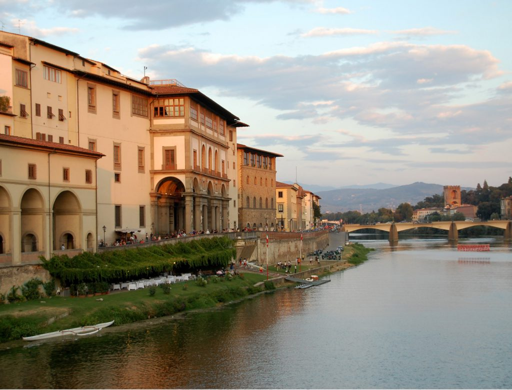 Sunset on the Arno Florence Italy by Rhonda Van Pelt | Manitou Springs, CO