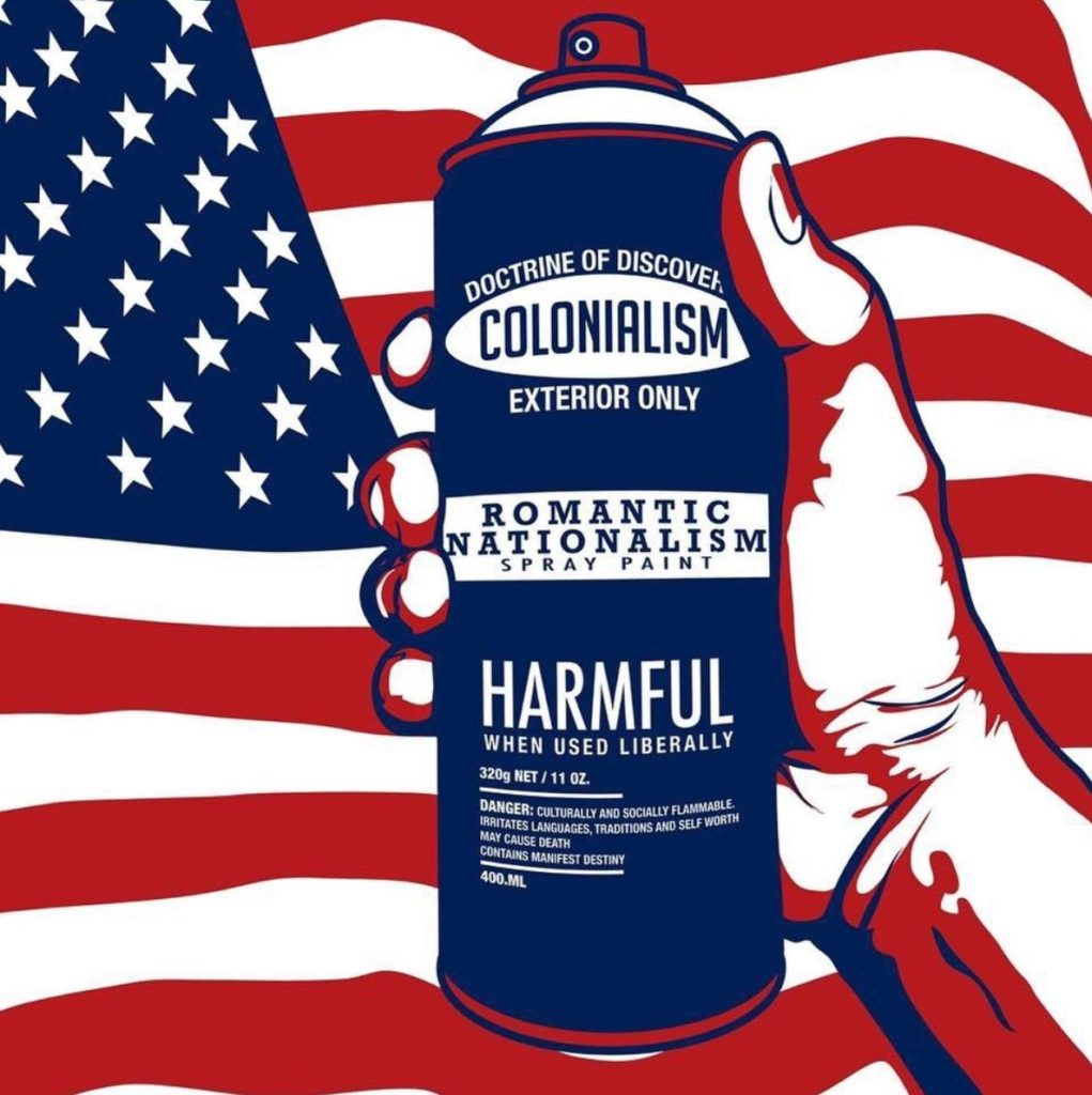 """""""Colonialism Spray Can"""" by Gregg Deal"""