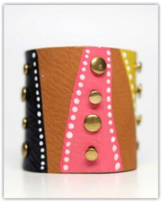 """Fiesta"" Hand-Painted Cuff by Becca 