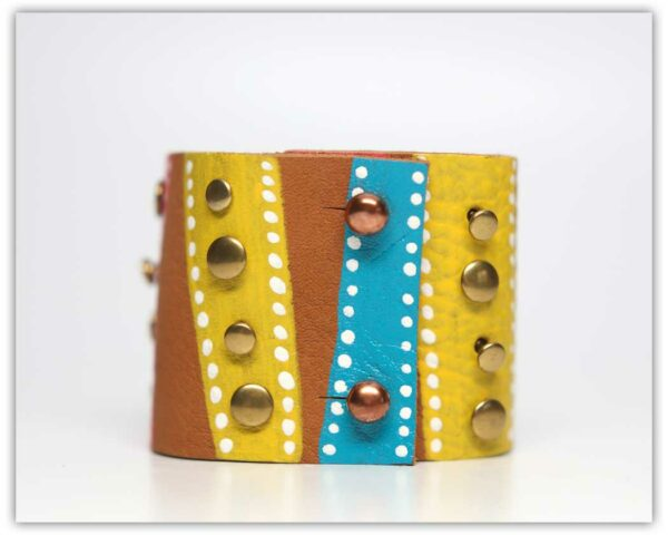 """""""Fiesta"""" Hand-Painted Cuff by Becca 