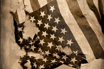 """U.S. Flag (Distressed),"" 2020 by Adam Williams 