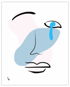 """Blue Eye (Tear Drop)"" by Adam Williams 