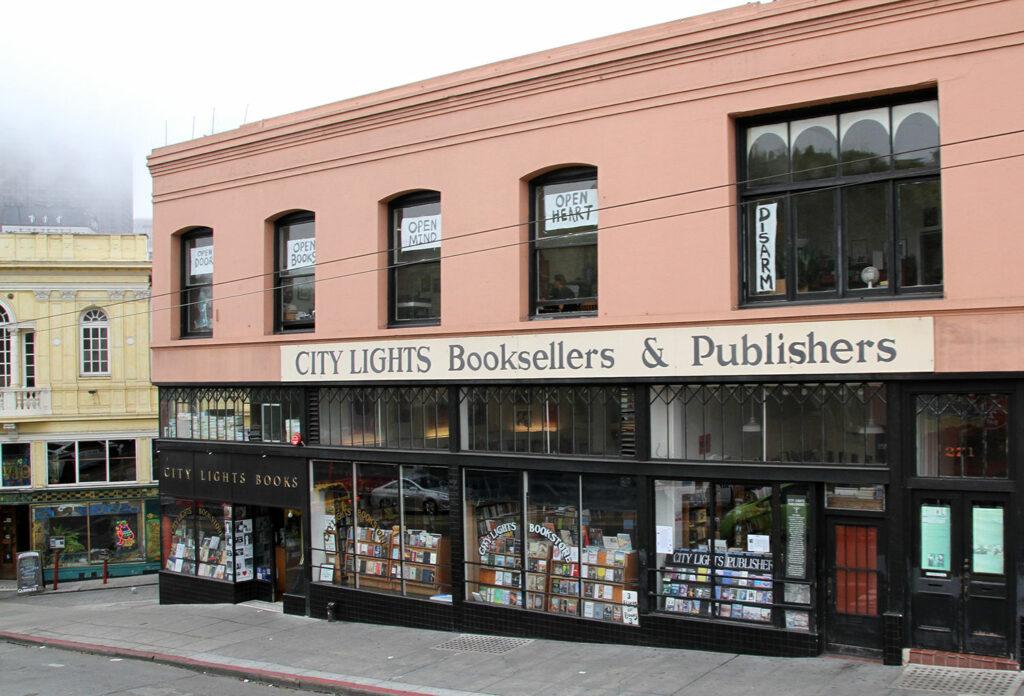 City Lights Bookstore, photo via Wikimedia Commons