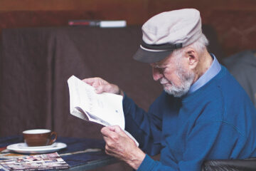 Lawrence Ferlinghetti, 2012 Caffe Trieste | Photo by Christopher Michel, via Wikimedia Commons