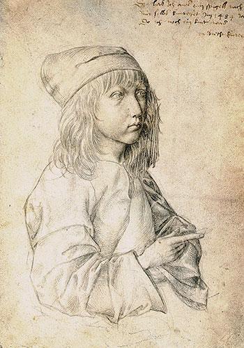 Albrecht Durer, Self-Portrait at Thirteen, 1484   Humanitou