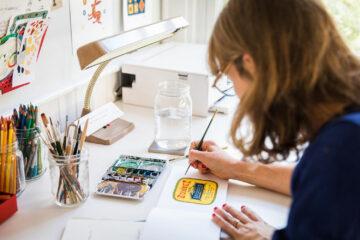 Isabelle Gelot, of Isatopia, Illustrator & Designer | Humanitou Podcast